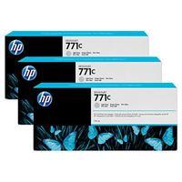 HP 771C original 3er-Pack Tinte grau - B6Y38A