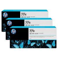 HP 771C original 3er-Pack Tinte schwarz - B6Y37A