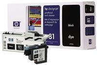 HP 81 schwarz Druckkopf und Druckkopfreiniger, farbstoffbasiert - C4950A