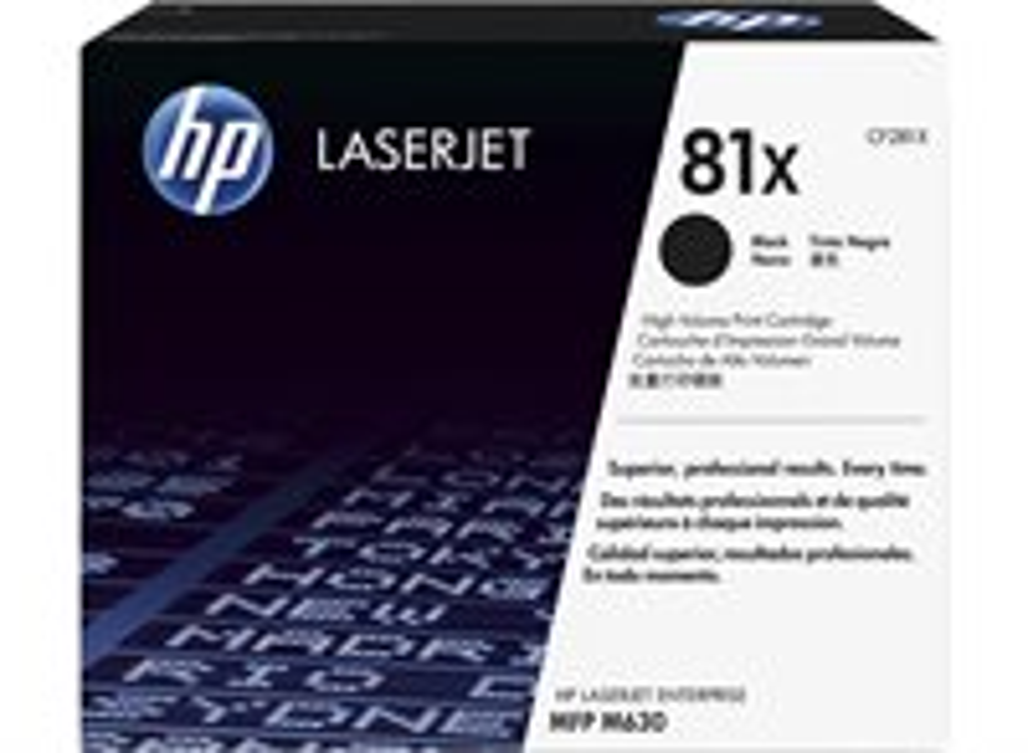 HP 81X Schwarz Original LaserJet Tonerkartusche