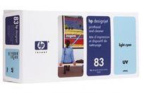 HP 83 cyan hell UV-Druckkopf und Druckkopfreiniger - C4964A