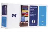 HP 83 cyan UV-Druckkopf und Druckkopfreiniger - C4961A