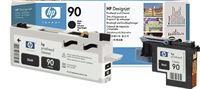 HP 90 schwarz Druckkopf und Druckkopfreiniger - C5054A