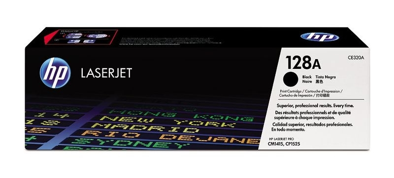 HP Toner schwarz 128A für CP1525, CE320A
