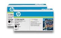 HP Toner schwarz Doppelpack , CE260XD