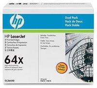 HP Toner schwarz Doppelpack für P4015, CC364XD