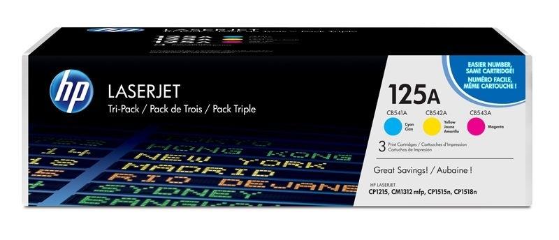 """HP Tonerpaket """"CMY"""" für LaserJet CP1215"""