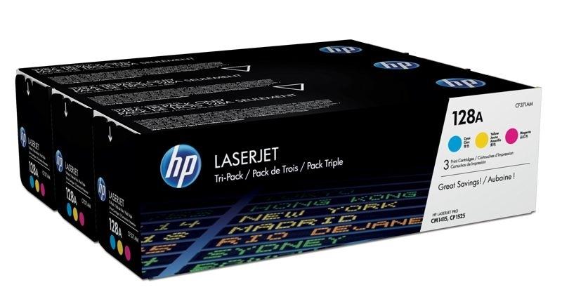 """HP Tonerpaket """"CMY"""" für LaserJet CP1525"""