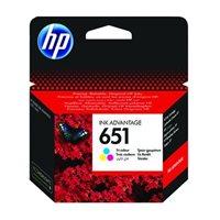 HP 651 Original Tinte Multipack C-M-Y - C2P11AE