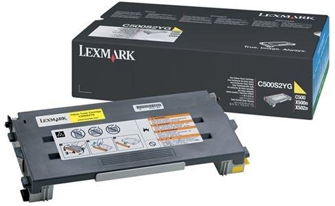 Lexmark Tonerkassette gelb, original, C500H2YG