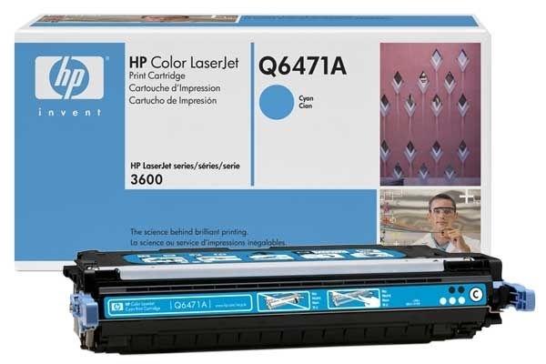 Original Toner cyan für HP 3600, Q6471A