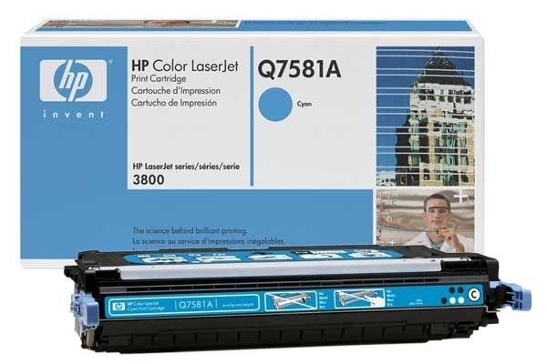Original Toner cyan für HP 3800, Q7581A