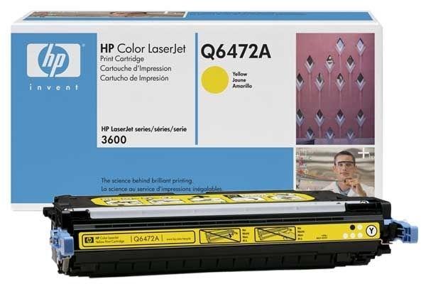 Original Toner gelb für HP 3600, Q6472A