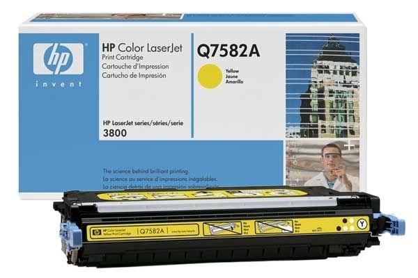 Original Toner gelb für HP 3800, Q7582A