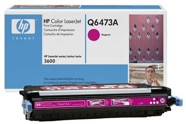 Original Toner magenta für HP 3600, Q6473A