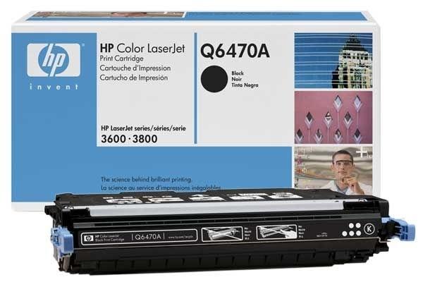 Original Toner schwarz für HP 3600/3800, Q6470A